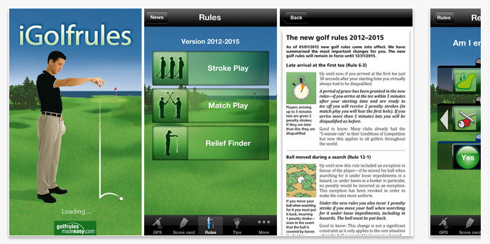 Golf Rules Quick Reference App