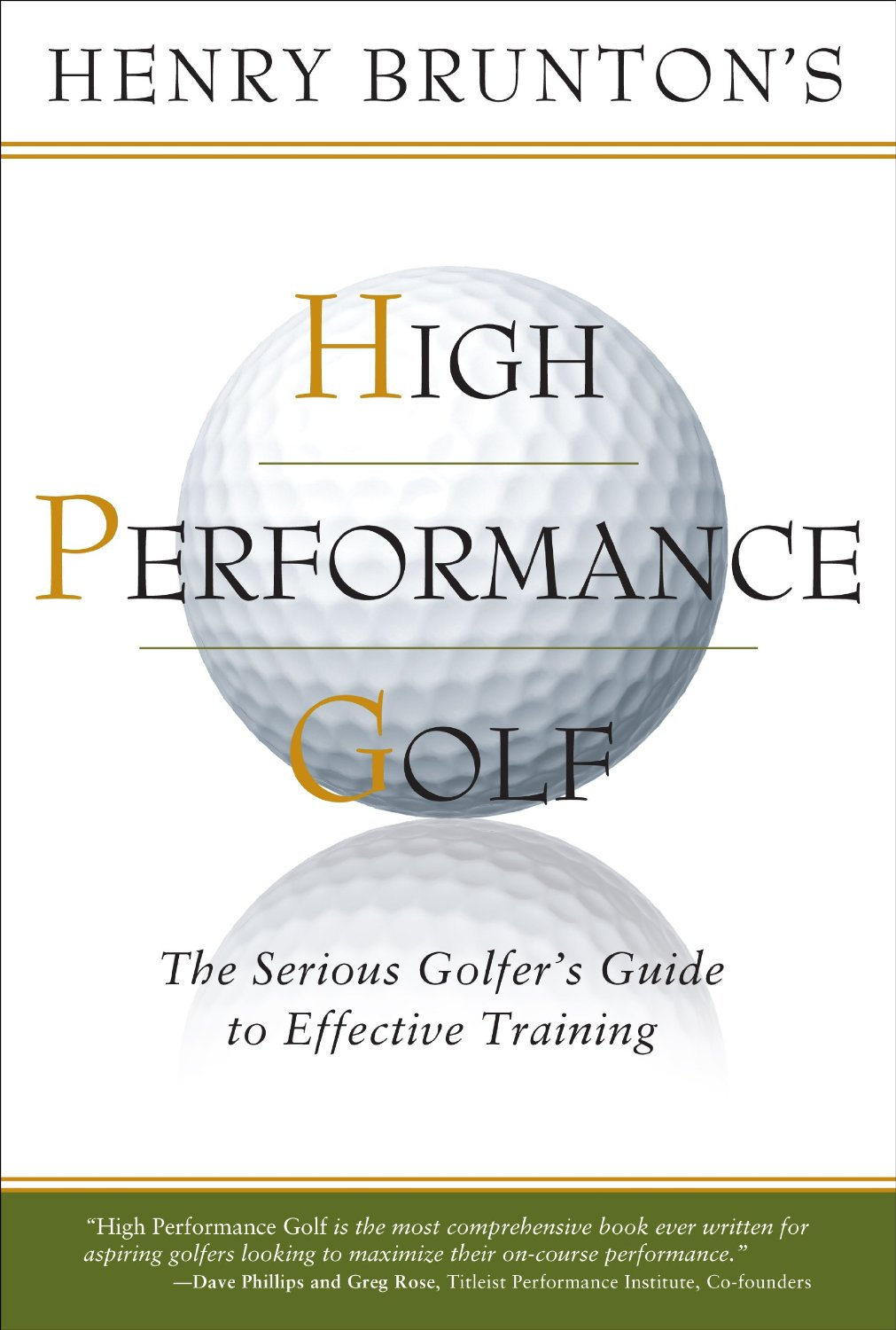 High Performance Golf Book