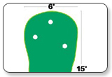 Big Moss Admiral Putting & Chipping Green 6' x 15'