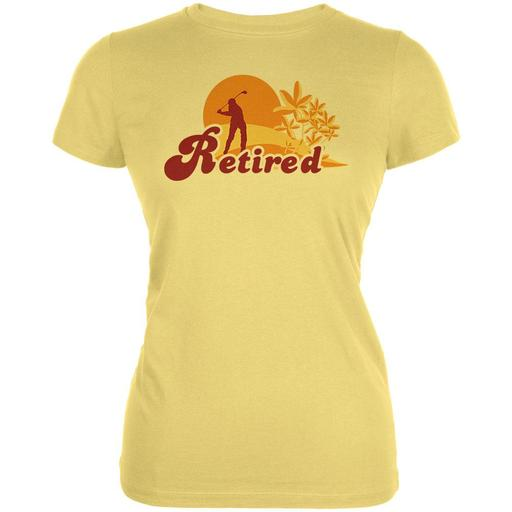 Retired Golf Golfer Sunset Juniors Soft T Shirt